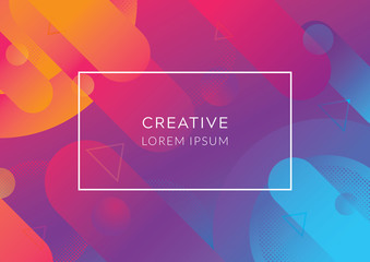Colorful geometric background. Creative geometric wallpaper. Abstract geometric background, Abstract gradient background