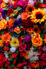 Traditional Mexican flowers used for day of the dead altars