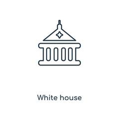 white house icon vector