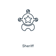 sheriff icon vector