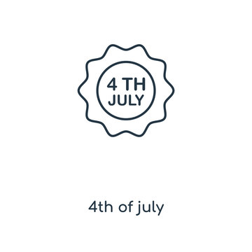 4th of july icon vector