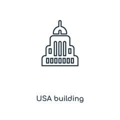usa building icon vector
