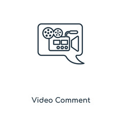 video comment icon vector