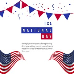 USA National Day Vector Template Design Illustration