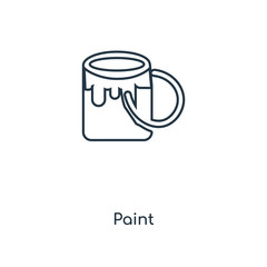 paint icon vector