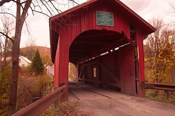 Slaughter House Road Covered Bridge over Dog River