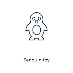 penguin toy icon vector