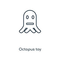 octopus toy icon vector