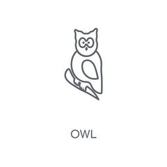 Owl linear icon. Owl concept stroke symbol design. Thin graphic elements vector illustration, outline pattern on a white background, eps 10.