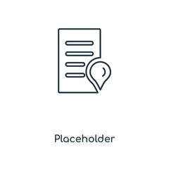 Placeholder concept line icon. Linear Placeholder concept outline symbol design. This simple element illustration can be used for web and mobile UI/UX.