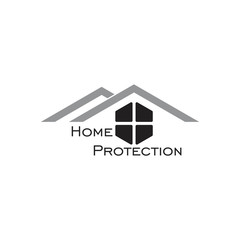 home protection symbol logo vector