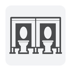Partition wall or divide space equipment icon