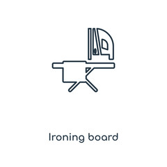 ironing board icon vector