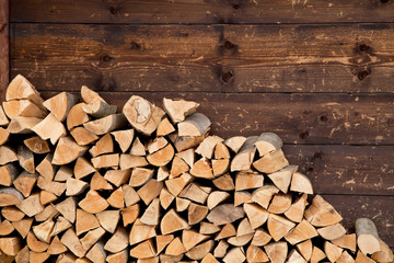 Printed roller blinds Firewood texture Firewood