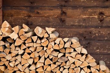 Tuinposter Brandhout textuur Firewood