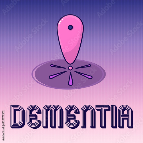 Handwriting text writing Dementia  Concept meaning Impairment in