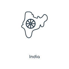 india icon vector