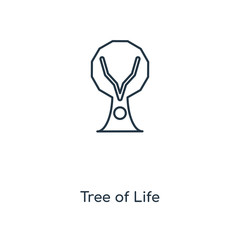 Tree of Life concept line icon. Linear Tree of Life concept outline symbol design. This simple element illustration can be used for web and mobile UI/UX.