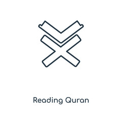 reading quran icon vector