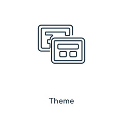 Theme concept line icon. Linear Theme concept outline symbol design. This simple element illustration can be used for web and mobile UI/UX.
