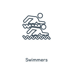 swimmers icon vector
