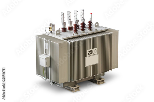 Three Phase 2500 KVA Oil Immersed Transformer Stock Photo
