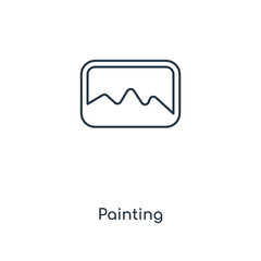 painting icon vector