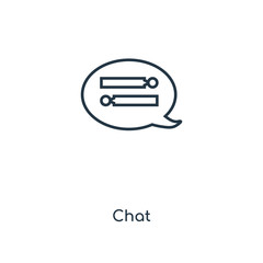 Chat concept line icon. Linear Chat concept outline symbol design. This simple element illustration can be used for web and mobile UI/UX.