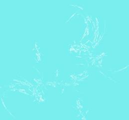 White fractal pattern on blue background. Fantasy fractal texture. Digital art. 3D rendering. Computer generated image.
