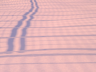 Shadows  and patterns on the surface  of snow
