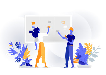 Managers and developers work together