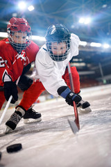 ice hockey sport childrens players.