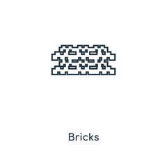 bricks icon vector