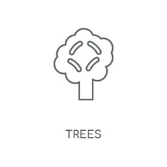 Trees linear icon. Trees concept stroke symbol design. Thin graphic elements vector illustration, outline pattern on a white background, eps 10.