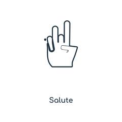 salute icon vector