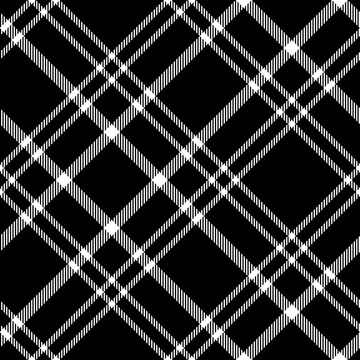 Seamless plaid pattern in black and white