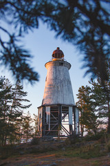 Lighthouse at Cape Besov Nos, Lake Onega shore