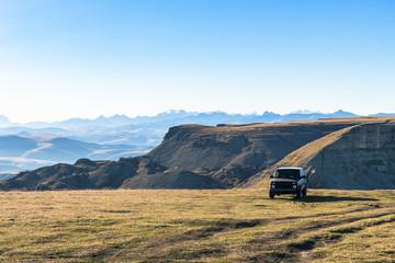 view of Bermamyt mountain Plateau in Caucasus