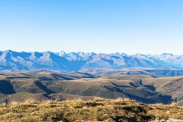 view of Caucasus mountain range from Bermamyt