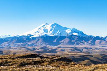 Mount Elbrus from Bermamyt at september morning