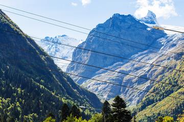 mountains around Dombay resort village