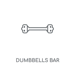 dumbbells bar icon