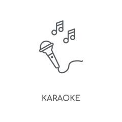 Karaoke linear icon. Karaoke concept stroke symbol design. Thin graphic elements vector illustration, outline pattern on a white background, eps 10.