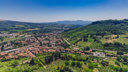 Town and landscape near Orvieto, Italy