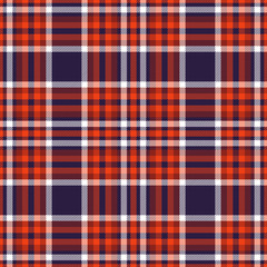 Seamless plaid pattern in red, burgundy and navy