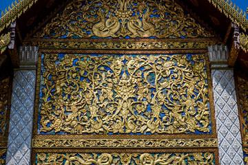 detail of thai temple in thailand