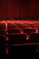 Photo sur cadre textile Opera, Theatre red seats at the theater