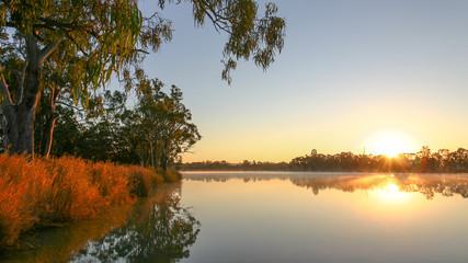 Sunrise on the Murray River in near Kingston-on-Murray in South Australia