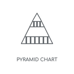 Pyramid chart linear icon. Pyramid chart concept stroke symbol design. Thin graphic elements vector illustration, outline pattern on a white background, eps 10.