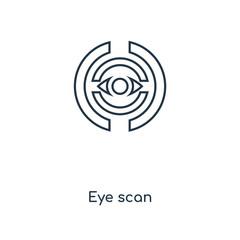 eye scan icon vector